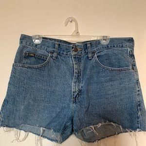 Vintage Lee denim shorts.